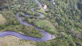 Estrada Curvy da montanha Imagens de Stock Royalty Free