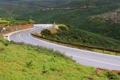 Estrada curvy molhada Fotos de Stock
