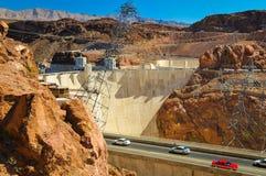 Estrada da barragem Hoover Imagem de Stock