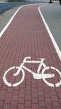 Estrada da bicicleta fotos de stock