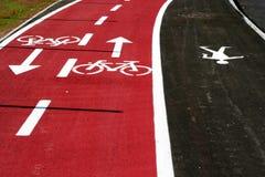 Estrada da bicicleta fotografia de stock royalty free