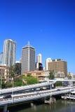 Estrada da cidade de Brisbane Fotos de Stock Royalty Free