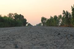 Estrada da construção fotografia de stock