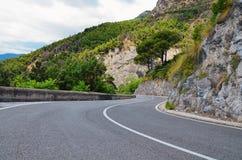 Estrada da costa, costa de Amalfi Foto de Stock Royalty Free
