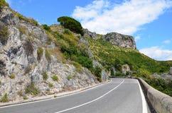 Estrada da costa de Amalfi, Itália Imagens de Stock Royalty Free
