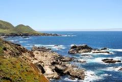 Estrada da costa de Califórnia Imagens de Stock