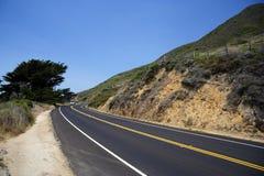 Estrada da Costa do Pacífico Imagem de Stock Royalty Free