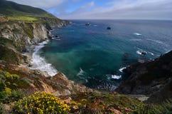 Estrada da Costa do Pacífico, movimentação de 17 milhas, Califórnia Fotos de Stock Royalty Free