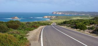 Estrada da costa do parque nacional de Innes Fotos de Stock Royalty Free