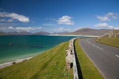Estrada da costa, ilha de Lewis. Imagem de Stock Royalty Free