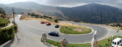 Estrada da Creta Fotos de Stock Royalty Free