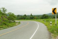 Estrada da curva. Fotografia de Stock Royalty Free