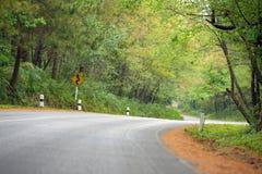 A estrada da curva de S Foto de Stock