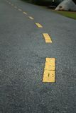 Estrada da curva no fundo e na textura Fotografia de Stock