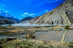 Estrada da equitação em Kagbeni, Nepal Fotografia de Stock Royalty Free