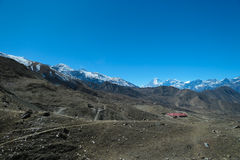 Estrada da equitação em Kagbeni, Nepal Imagem de Stock