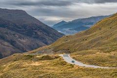 Estrada da escala da coroa, Wanaka, Nova Zelândia Foto de Stock