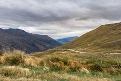 Estrada da escala da coroa, Wanaka, Nova Zelândia Imagem de Stock