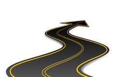 Estrada da forma da seta Foto de Stock Royalty Free