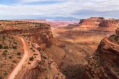 Estrada da fuga de Shafer no parque nacional de Canyonlands Fotografia de Stock