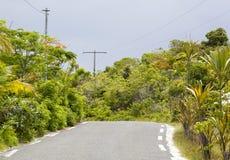 Estrada da ilha do Pacífico Fotografia de Stock Royalty Free
