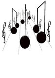 Estrada da música Imagens de Stock Royalty Free
