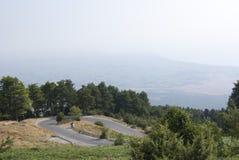 Estrada da montanha Fotos de Stock Royalty Free