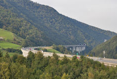Estrada da montanha de Eslovênia Foto de Stock Royalty Free