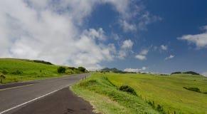 Estrada da montanha de Kohala entre Hawi e Waimea Fotografia de Stock