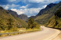 Estrada da montanha do enrolamento Fotografia de Stock Royalty Free