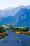 Estrada da montanha do país em nan Tailândia Foto de Stock