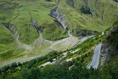 Estrada da montanha do verão Fotografia de Stock