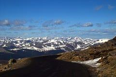 Estrada da montanha em Colorado fotografia de stock