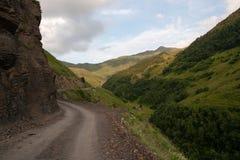 Estrada da montanha em Geórgia Foto de Stock Royalty Free