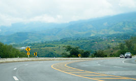 Estrada da montanha em Phetchabun, Tailândia Imagens de Stock Royalty Free