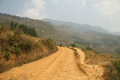 Estrada da montanha em Sapa Fotografia de Stock