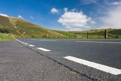 Estrada da montanha em Wales Foto de Stock