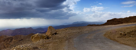 Estrada da montanha na peninsula do Sinai Foto de Stock Royalty Free