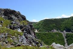 Estrada da montanha rochosa Imagem de Stock