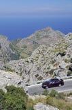 Estrada da montanha a Sa Calobra Fotografia de Stock