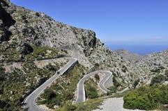 Estrada da montanha a Sa Calobra Foto de Stock Royalty Free