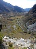 A estrada da morte em Yungas, Bolívia, Ámérica do Sul fotografia de stock royalty free