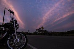 Estrada da motocicleta Fotos de Stock Royalty Free
