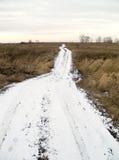 A estrada da neve imagens de stock