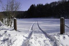 Estrada da neve Imagem de Stock