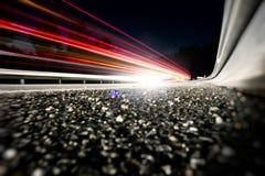 Estrada 01 da noite Imagem de Stock Royalty Free