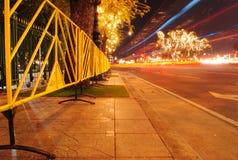 Estrada da noite Imagens de Stock Royalty Free