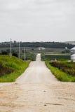 Estrada da parte traseira de Iowa fotografia de stock royalty free