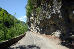 Estrada da passagem de Cerna Fotos de Stock Royalty Free