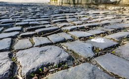 Estrada da pedra de Flandres - detalhe imagens de stock